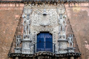 Facade of the House of Montejo, built in 1549, home of the Conqueror of Yucatan and founder of the city of Merida, Francisco de Montejo, El Mozo.