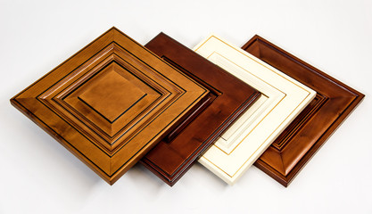 Wooden kitchen cabinet doors made from maple with traditional styles on white surface. Cabinet, Cabinet Door, Kitchen