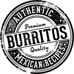 Authentic Burritos Vintage Menu Stamp