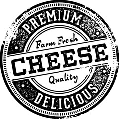 Premium Cheese Vintage Stamp