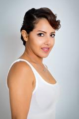 Beautiful Short Hair Woman