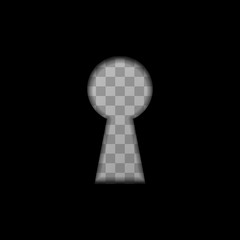 Keyhole shape on transparent background