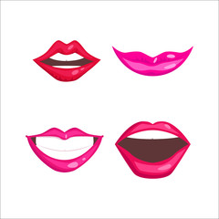Woman lips vector illustration.