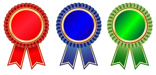 Blank award ribbon set