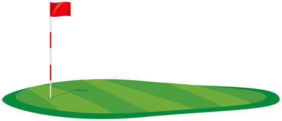 ゴルフ場 グリーンのイメージイラスト