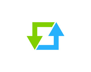 Initial Letter Z Arrow Logo Design Element