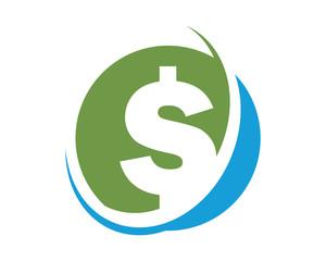 silhouette dollar icon