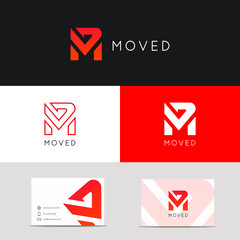 Creative M letter icon sign company vector logo design