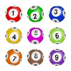 Bingo, lotto, lottery balls