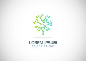 green tree botany abstract logo