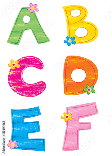 Lettere Dellalfabeto 1 Fiore Stock Photo And Royalty Free Images