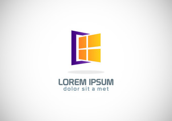 window construction design logo