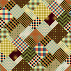 Brown retro patchwork
