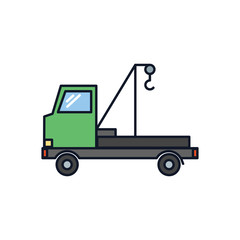 Tow Truck Icon Illustration Isolated Vector Sign Symbol