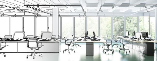 Büroeinrichtung im Konzept 02 (panoramisch)