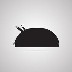 Векторная иллюстрация иконка простой символ плоский для веб bag косметичка