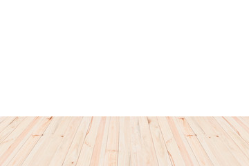 Wooden floor isolated on white background.