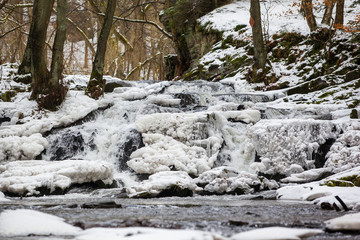 Selkewasserfall im Winter