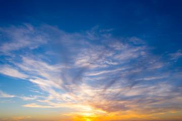 Wall Mural - Sky at sunset