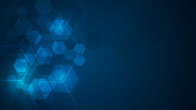 abstract cube hexagon shape pattern innovative concept background