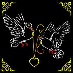 Wedding pigeons