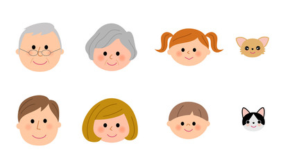 三世代家族 笑顔