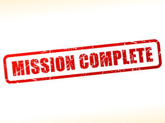 mission complete text stamp