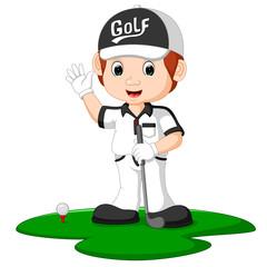 Golfer Man Cartoon