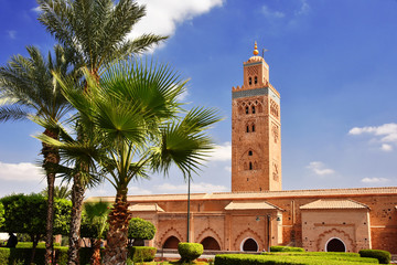 Foto auf Acrylglas Denkmal Koutoubia Mosque in the southwest medina quarter of Marrakesh