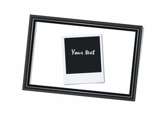 Portrait frame and photo on a white background.