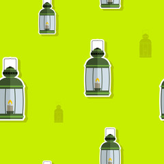 seamless pattern with lanterns for your design