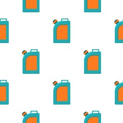 Oil jerrycan icon in cartoon style isolated on white background. Oil industry pattern stock vector illustration.