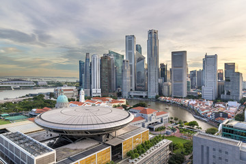 Singapore Central Business District City Skyline