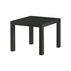 Black table isolated on white background. Vector illustration