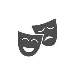 Isolated mask icon on white background illustration
