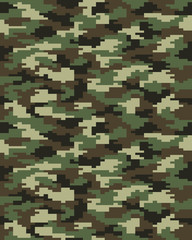 Seamless digital fashion camouflage pattern, vector