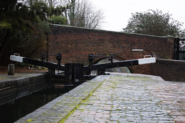 Canal Locks in Wolverhampton, England