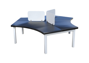 3D Rendering Office Table on White