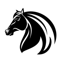 horse head vector design