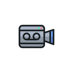 Video Camera Icon Illustration Isolated Vector Sign Symbol