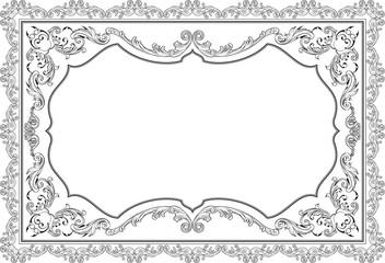 Baroque nice ornate page