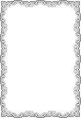 Baroque ornate swirl frame