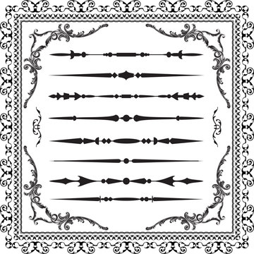 Divide lines set