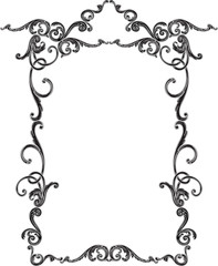 Ornate scroll decor luxury black page