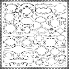 Ornate grand baroque floral set