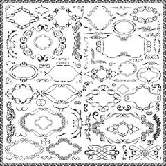 Ornate splendid baroque floral set