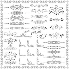 Ornate splendid design elements