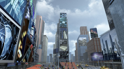 Time Square New York Manhattan. 3D rendering