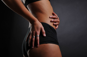 Bauch sportliche Frau Fitness