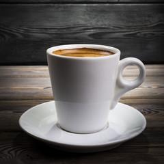 Freshly brewed mug of coffee